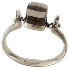 Georg Jensen Sterling Silver Torun Bracelet with Quartz No 207