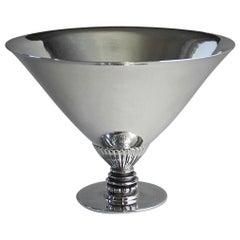 Georg Jensen Sterling Silver Triangular Hammered Bowl, No259 by Gundorph Albertu