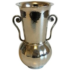 Georg Jensen Sterling Silver Vase with to Handles No 521