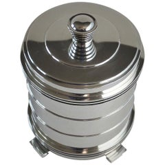 Georg Jensen Sterling Silver Very Rare Tobacco Jar, No.796 by Jorgen Jensen
