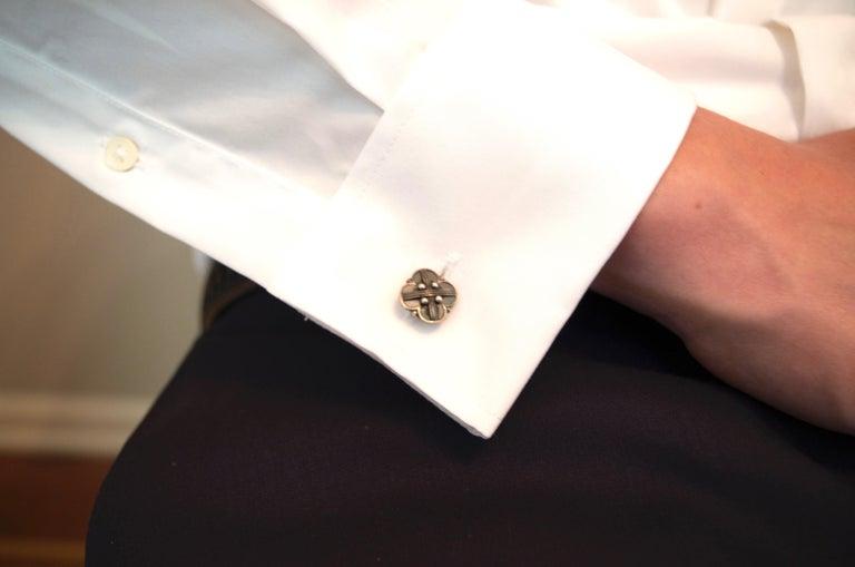 Men's Georg Jensen Sterling Silver Vintage Cufflinks For Sale