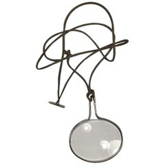 Georg Jensen String with Sterling Silver Pendant No 400 'Magnifying Glass' Torun