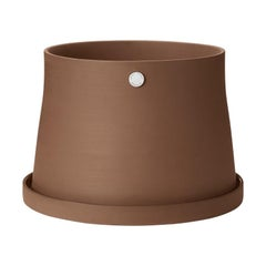 Georg Jensen Terra Pot Terra Large in Terracotta and Stainless Steel