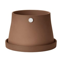Georg Jensen Terra Pot Terra Medium in Terracotta and Stainless Steel