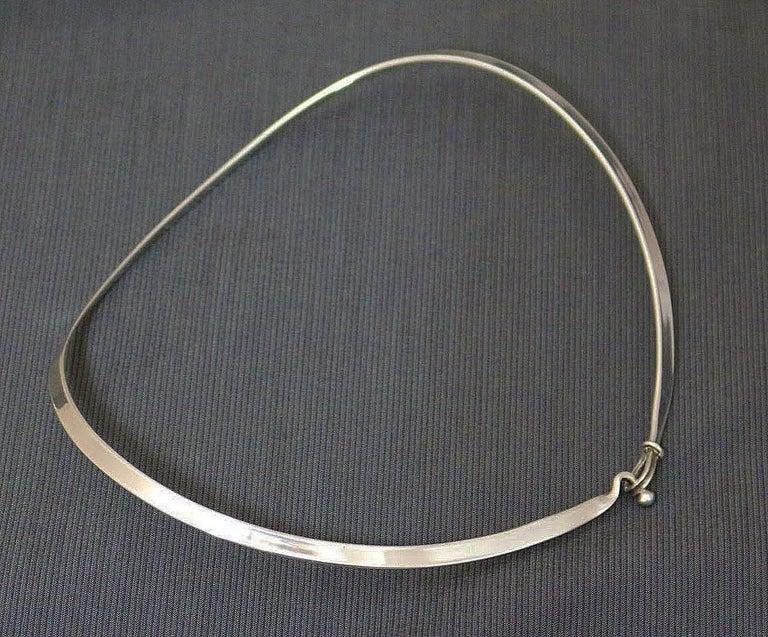 Mid-Century Modern Georg Jensen Torun Silver Necklace No. 168 circa 1960 Danish Jewelry For Sale