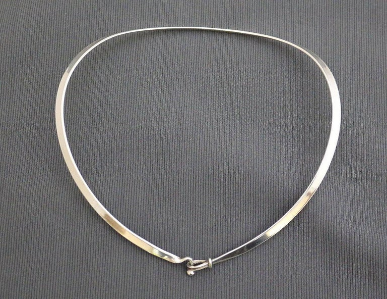 Georg Jensen Torun Silver Necklace No. 168 circa 1960 Danish Jewelry In Good Condition For Sale In , South West France