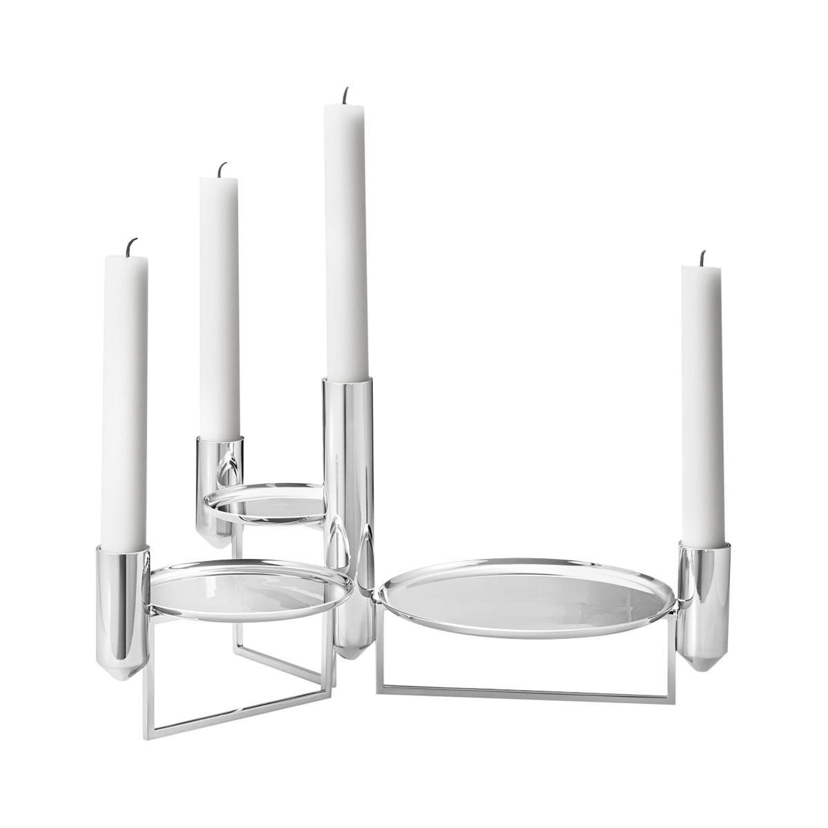 Georg Jensen Tunes Centrepiece Candleholder in Stainless Steel by Monica Förster