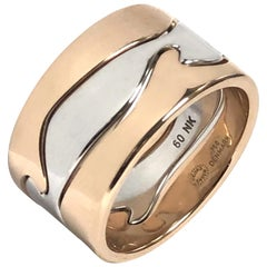 Georg Jensen Two-Color Gold Fusion Puzzle Ring by Nina Koppel