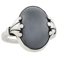 Georg Jensen Vintage Hematite Ring No. 51