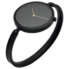 Georg Jensen Viviana Black PVD Ladies Bangle Bracelet Watch