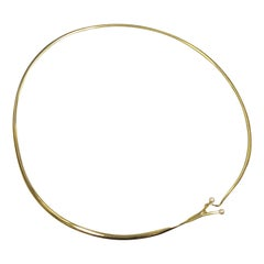 Georg Jensen Vivianna Torun Yellow Gold and Pearl # 904 Necklace