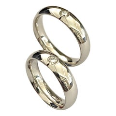 Georg Jensen, Wedding Rings, White Gold with Diamond