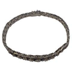Georg Jensen & Wendel 18 Karat Whitegold Bracelet with Brilliants
