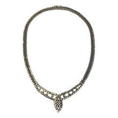 Georg Jensen & Wendel 18 Karat Whitegold Necklace with Brilliant Cut Diamonds