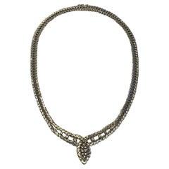 Georg Jensen & Wendel 18k Whitegold Necklace with Brilliant Cut Diamonds