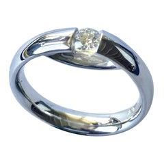 Georg Jensen, White Gold Centenary Ring with Diamond '7'