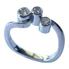 """Georg Jensen, White Gold Diamond Ring """"CASCADE"""" nr 3568220"""