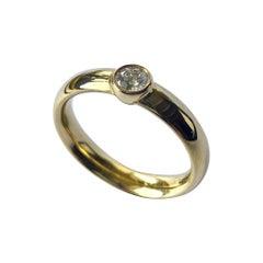Georg Jensen, Yellow Gold Diamond Ring, Centenary