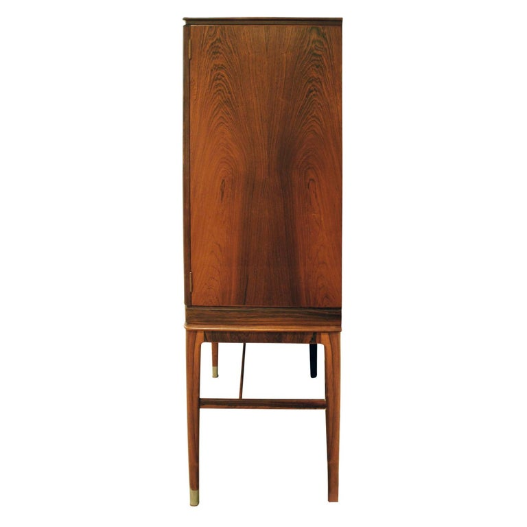 Hand-Crafted Georg Kofoed Cabinet in Brazilian Rosewood with Inlays, 1930s 'Signed'