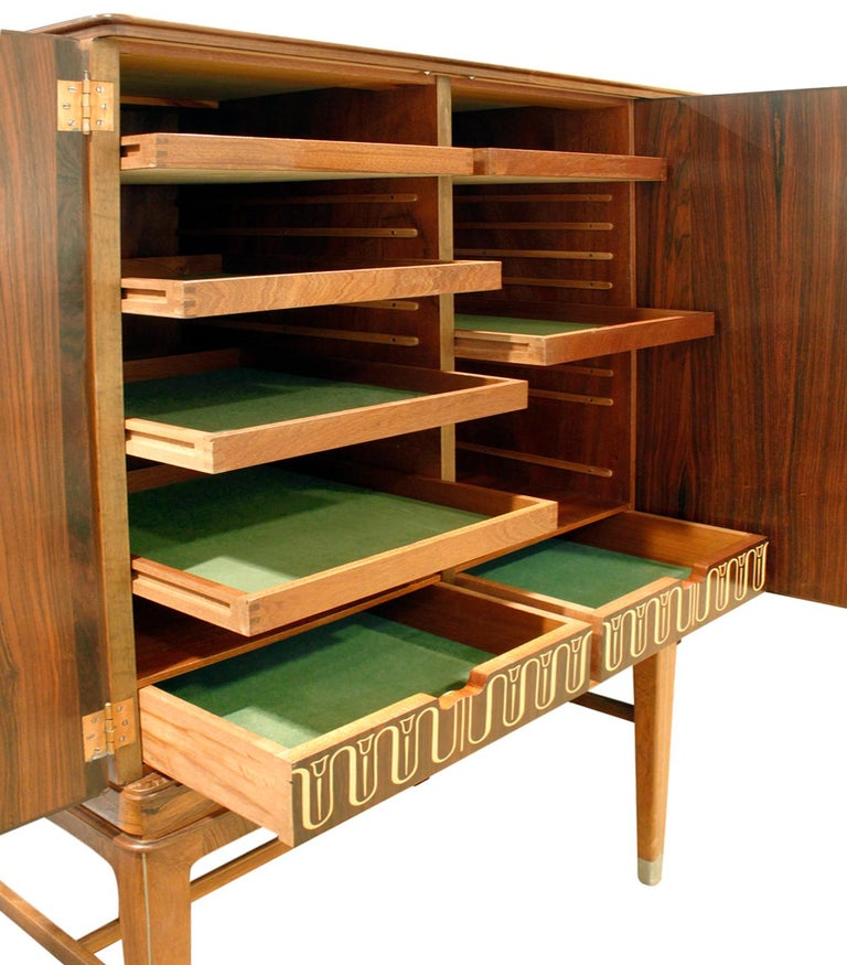Mid-20th Century Georg Kofoed Cabinet in Brazilian Rosewood with Inlays, 1930s 'Signed'