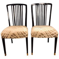 Georg Kofoed Style Mid-Century Modern Ebony Dining or Side Chairs Set of 24