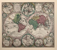 "World Map entitled ""Diversi Globi Terr-Aquei Statione Variante"" by Seutter"