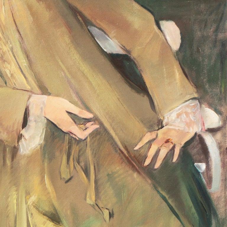 'Portrait of the Fashion Designer, Lieselotte Friedländer', Weimar Republic Oil For Sale 6