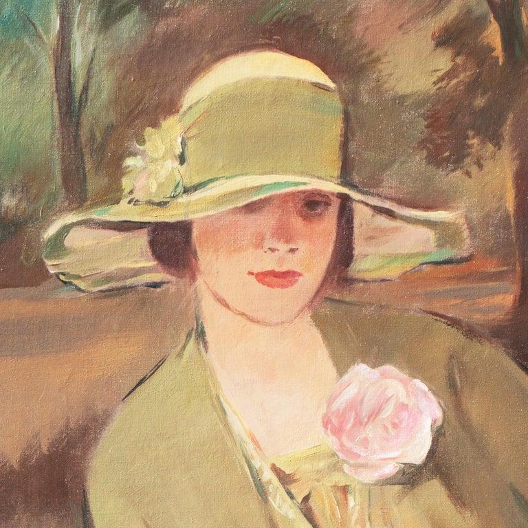 'Portrait of the Fashion Designer, Lieselotte Friedländer', Weimar Republic Oil For Sale 7