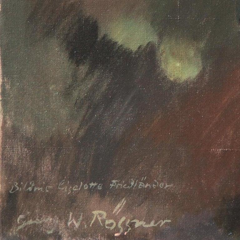 'Portrait of the Fashion Designer, Lieselotte Friedländer', Weimar Republic Oil - Painting by Georg Rössner