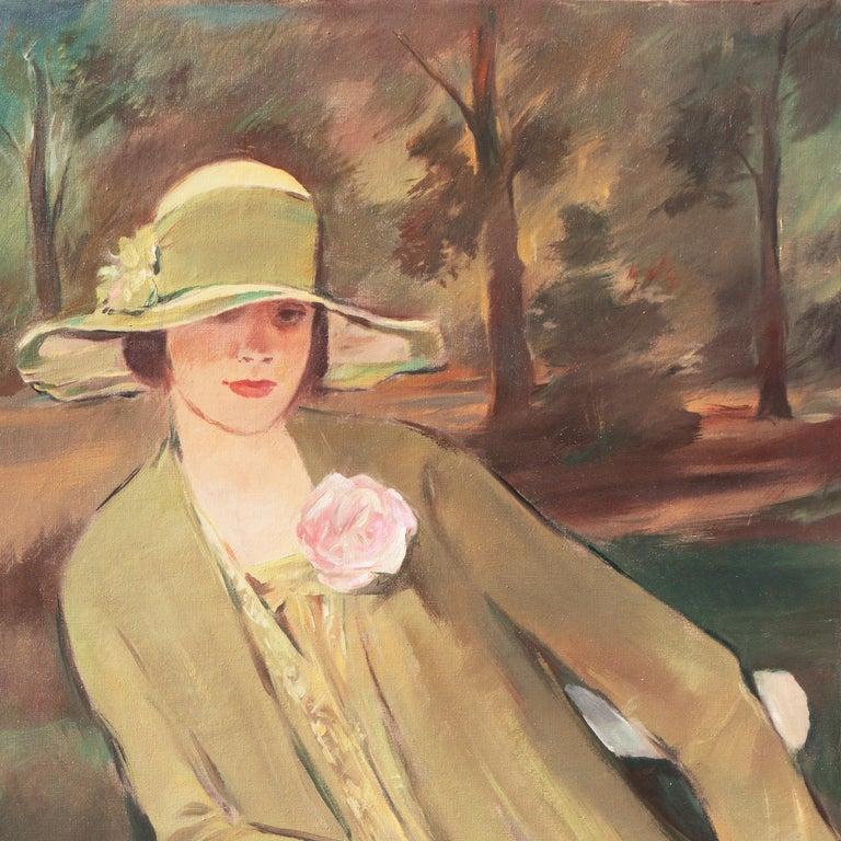 'Portrait of the Fashion Designer, Lieselotte Friedländer', Weimar Republic Oil For Sale 1
