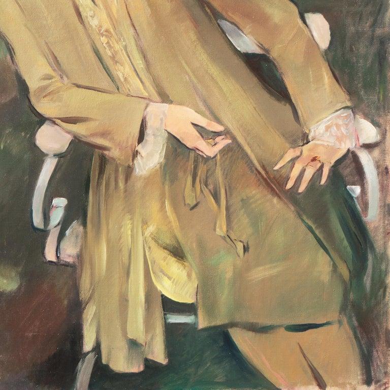 'Portrait of the Fashion Designer, Lieselotte Friedländer', Weimar Republic Oil For Sale 3
