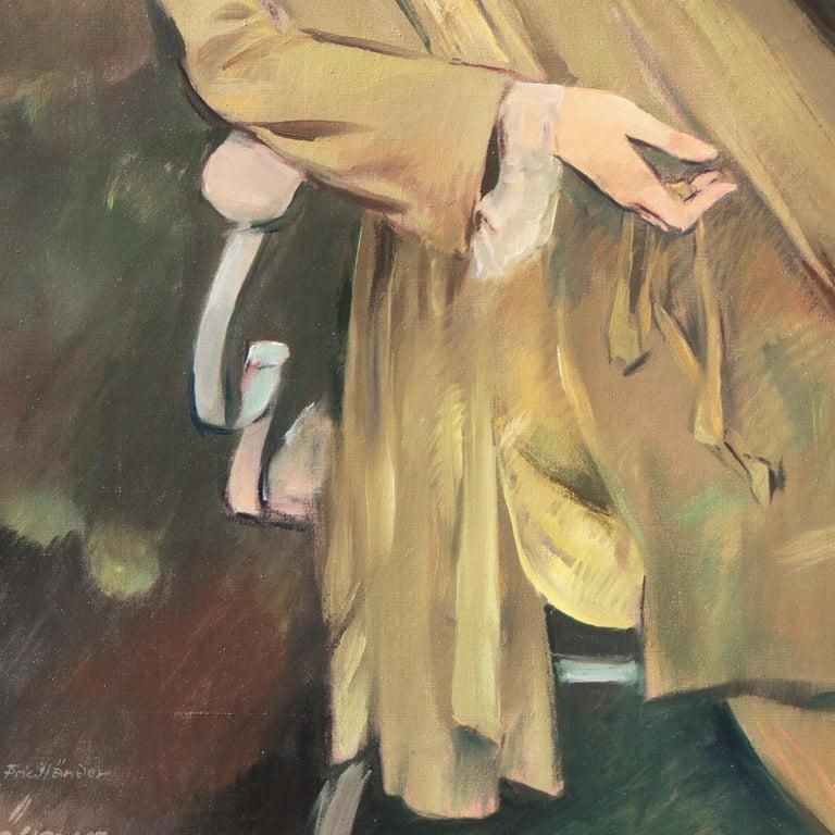 'Portrait of the Fashion Designer, Lieselotte Friedländer', Weimar Republic Oil For Sale 4