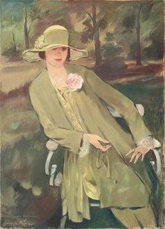 Portrait of Lieselotte Friedländer   (Weimar, German, Jewish, Fashion, Woman)