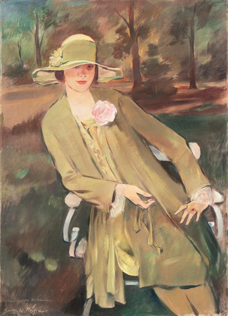 Georg Rössner Portrait Painting - 'Portrait of the Fashion Designer, Lieselotte Friedländer', Weimar Republic Oil