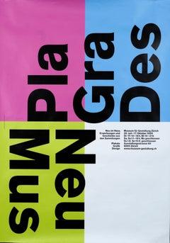 """Neu im Haus - Plakate Grafik Design"" Swiss Graphic Design Exhibition Poster"
