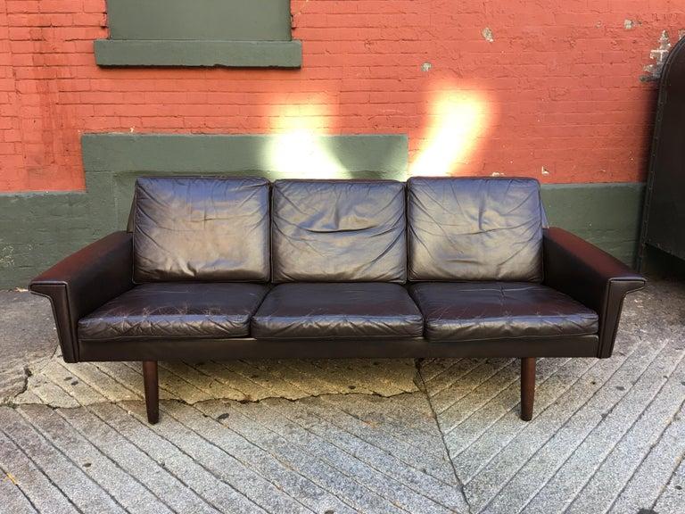 Georg Thams for Vejen Polstermobelfabrik Danish Leather Sofa For Sale 3