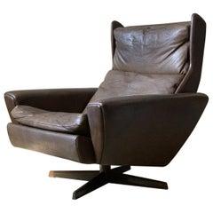 Georg Thams, Swivel Lounge Chair, Model 68, Vejen Polstermobel Fabrik