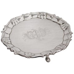 George 11 Silver Salver, William Peaston, Dated 1751, London Assay