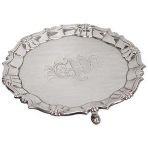 George 11 Silver Salver, William Peaston, Dated 1751, London Assay
