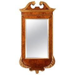 George 11 Style Walnut Pier Glass Mirror, circa 1890