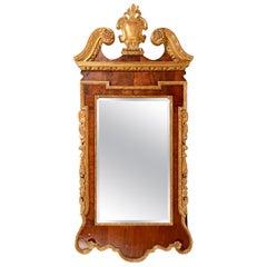 George 11 Walnut Pier Glass Mirror, circa 1890