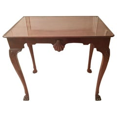 George 111 Irish Mahogany Silver Table with Centre Carved Shell, circa 1760