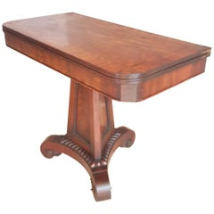 George 111 Mahogany Crossbanded Tea Table in the Manner of Thomas Hope