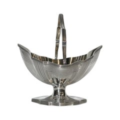 George 111 Silver Sugar Basket, Made by Peter & Anne Bateman, 1794, London Assay