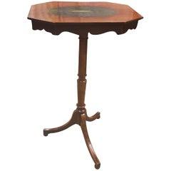 George 3rd Mahogany Tripod Table With Shagreen Inlay