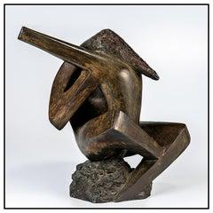 Geroge Aarons RARE Original Bronze Sculpture Figurative Signed Modern Artwork