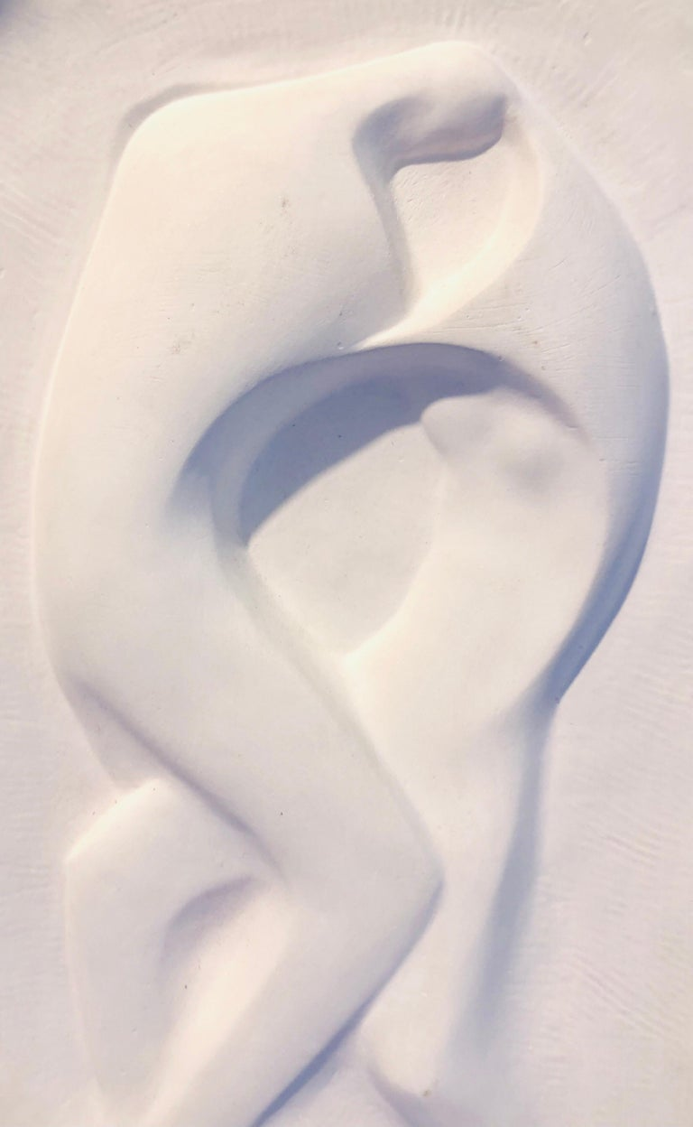 Plaster Sculpture Relief Art Deco Plaque WPA Artist Lovers Embrace, Dancers - Brown Figurative Sculpture by George Aarons