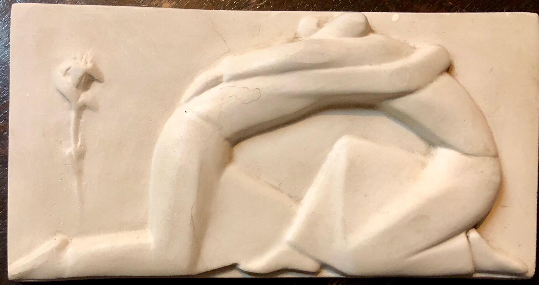 Left Hand Art Deco Sculpted Plaque