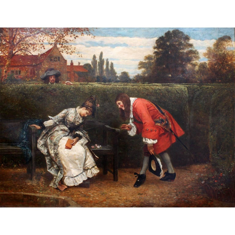 George Adolphus Storey (British, 1834-1919) a very fine and large oil on canvas titled