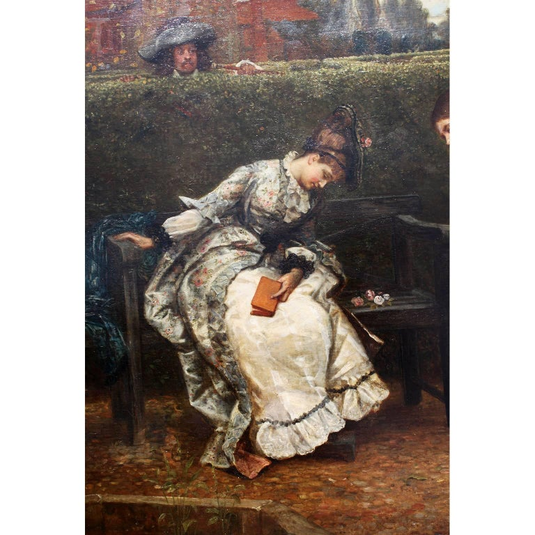 Romantic George Adolphus Storey Oil on Canvas
